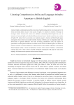 Listening Comprehension Ability and Language Attitudes: American