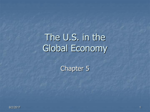 The U.S. in the Global Economy