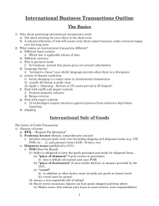 International Business Transactions-SBA
