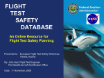 flight test safety data base-update