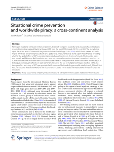 Situational crime prevention and worldwide piracy: a cross