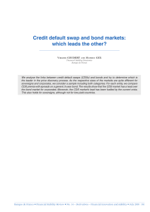 Credit default swap and bond markets: which leads the other?