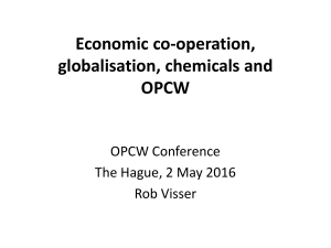 Economic co-operation, globalisation, chemicals and OPCW