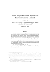 Access Regulation under Asymmetric Information about Demand!