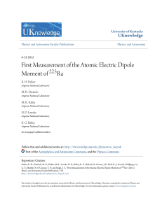 First Measurement of the Atomic Electric Dipole