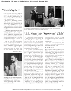 US Must Join `Survivors` Club`