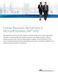 Human Resources Recruitment in Microsoft Dynamics AX 2012