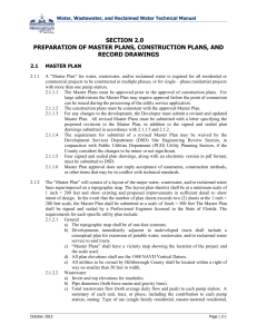 section 2.0 preparation of master plans, construction plans, and
