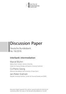 Interbank intermediation