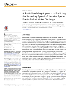 A Spatial Modeling Approach to Predicting the Secondary Spread of