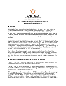 dowwnload The Canadian Hearing Society Position Paper on