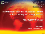 The Oil Price Fall and its Implications for the Global Economy and