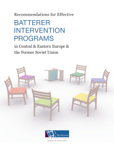 batterer intervention programs - The Advocates for Human Rights
