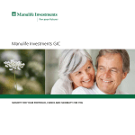 Manulife Investments GIC