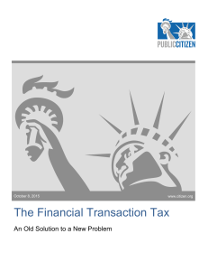 The Financial Transaction Tax