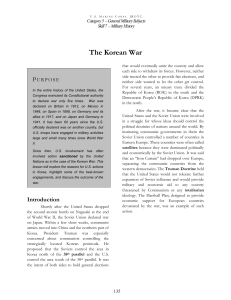 General Military Subjects 5. The Korean War