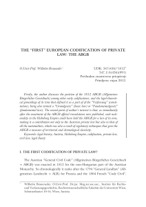 "the ""first"" european codification of private law: the abgb"