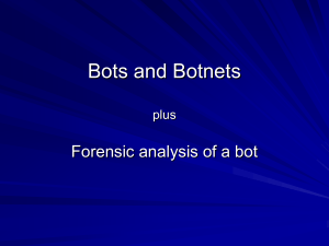 Bots and Botnets - IT Services Technical Notes