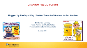 Why I Shifted from Anti-Nuclear to Pro Nuclear – Dr