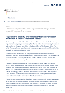 Construction products: German government brings action against