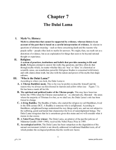 The Dalai Lama`s reputation in China