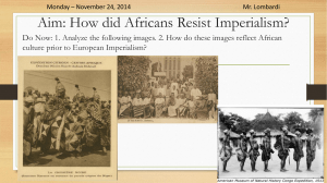 Imperialism: African Resistance Movements