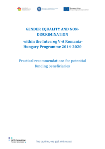 GENDER EQUALITY AND NON- DISCRIMINATION within