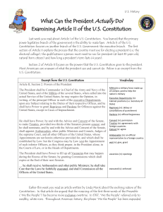Examining Article II of the US Constitution