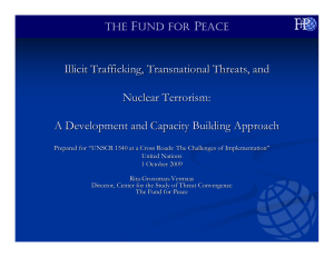 Illicit Trafficking, Transnational Threats, and Nuclear Terrorism: A