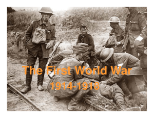 The First World War - humanitiesforwisdom.org