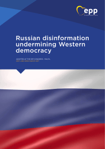 Russian disinformation undermining Western democracy