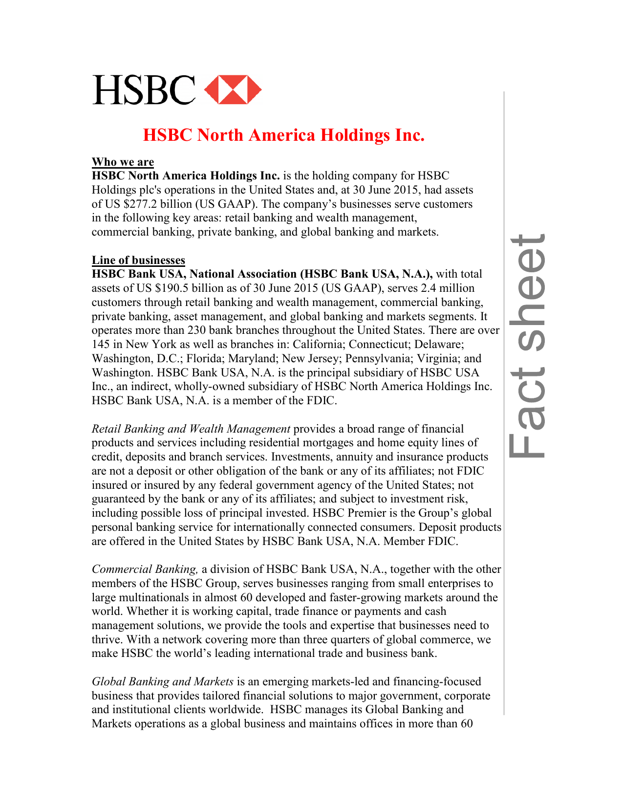 HSBC North America Holdings Inc