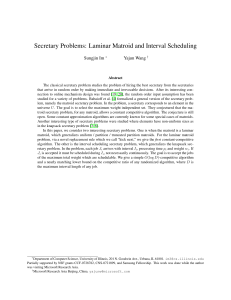Secretary Problems: Laminar Matroid and
