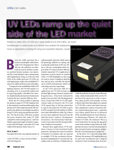 UV LEDs ramp up the quiet side of the LED market