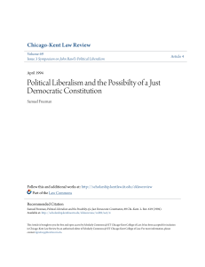 Political Liberalism and the Possibilty of a Just Democratic Constitution