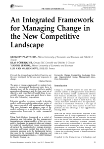 An Integrated Framework for Managing Change in the