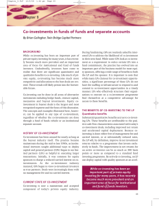 Co-investments in funds of funds and separate accounts