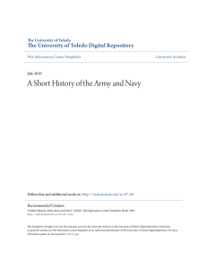 A Short History of the Army and Navy
