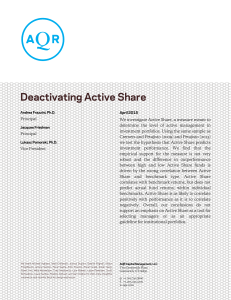 Deactivating Active Share