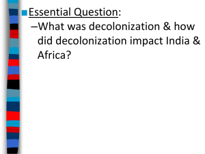 Decolonization of African and India