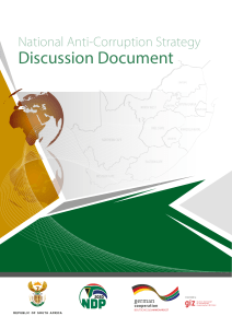 National Anti-Corruption Strategy Discussion Document