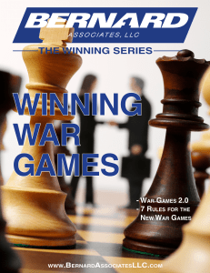 war games 2.0 - 7 rules for the new war games