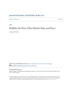 Bobbitt, the Rise of the Market State, and Race