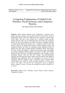 Competing Explanations of Global Evils: Theodicy, Social Sciences