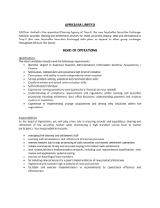 head of operations - Trop-X