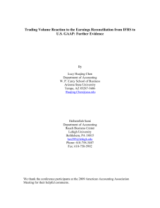 Trading Volume Reaction to the Earnings Reconciliation from IFRS