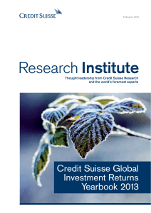Credit Suisse Global Investment Returns Yearbook 2013