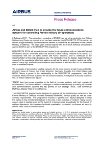 Airbus and ENGIE Ineo to provide the future communications