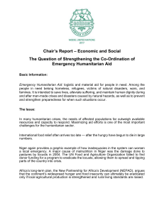 Chair`s Report – Economic and Social The Question of