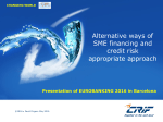 Alternative ways of SME financing and a credit risk appropriate